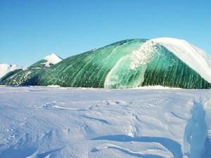 Antarctic Green Icebergs